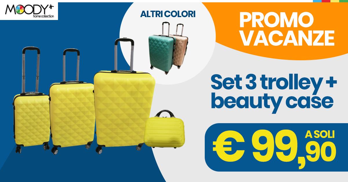 Pronto per le vacanze? Set 4 valigie in offerta!